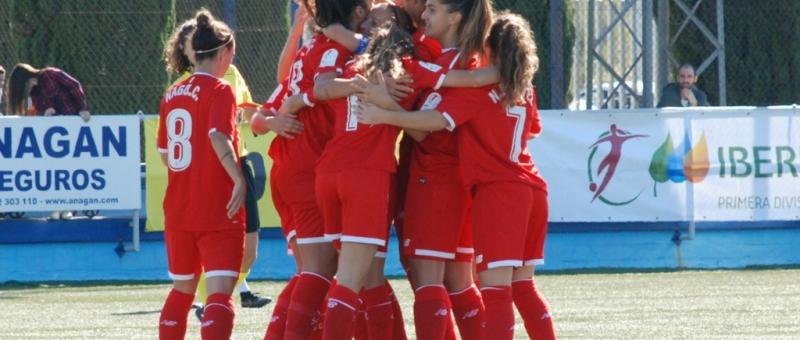 El Sevilla FC Fem cosigue su primera victoria en Liga iBERDROLA ANTE EL Zaragoza CFF