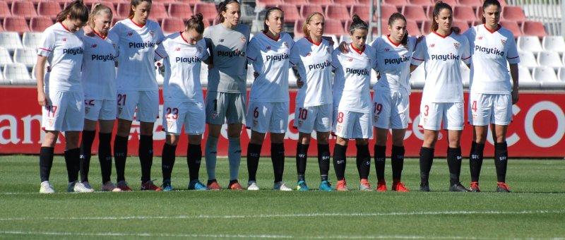 Foto del encuentro entre el Sevilla FC Fem y el Atleti Femenino