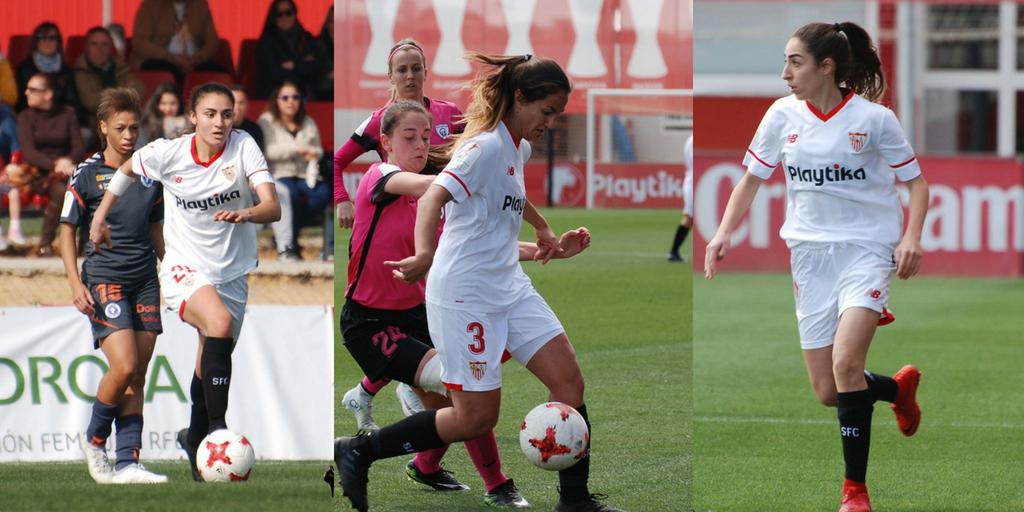Olga, Lucía y Blanca sevillistas hasta 2020