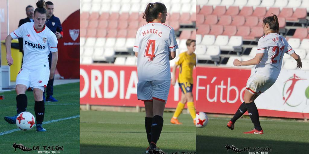 Las jugadoras Maite, Raquel y Marta renuevan con el Sevilla FC