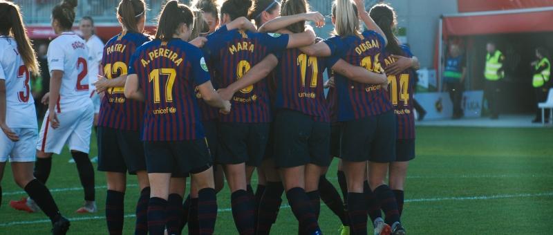El Sevilla cae por 0-2 ante el FC Barcelona en el Estadio Jesús Navas