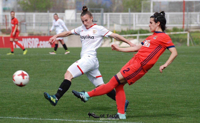 Raquel Pinel en el encuentro de la Real Sociedad de la pasada temporada
