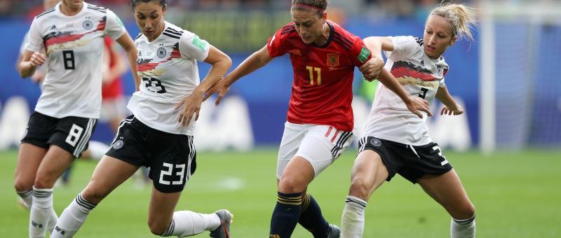 Alexia Putellas en el encuentro de la Sefutbol ante Alemania