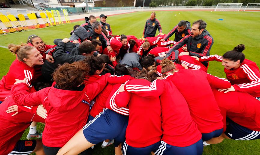 España prepara el encuentro ante Sudáfrica