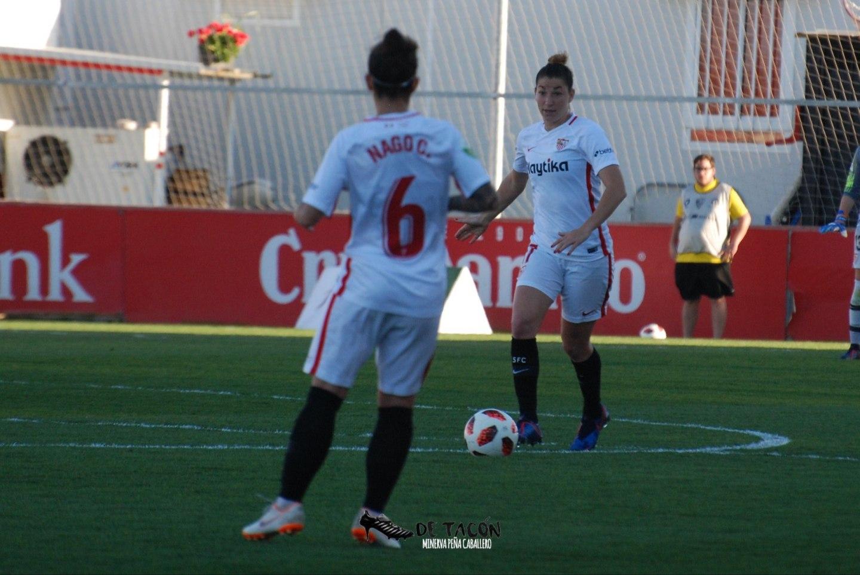 Aldana Cometti en el partido ante el Málaga CFF