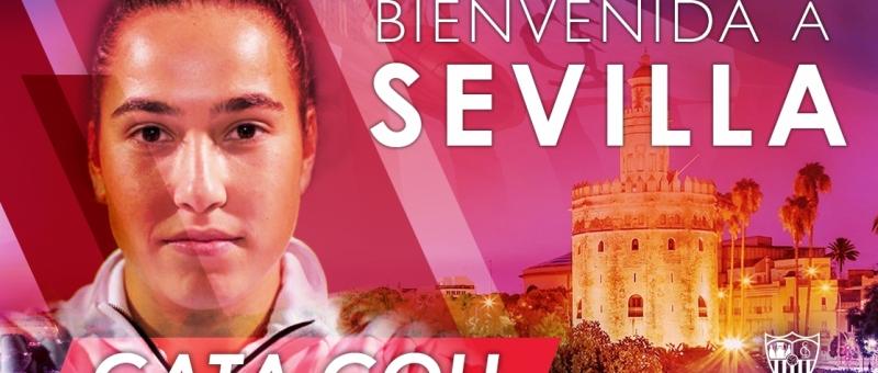 La guardameta Cata Coll llega en condición de cedida al Sevilla FC