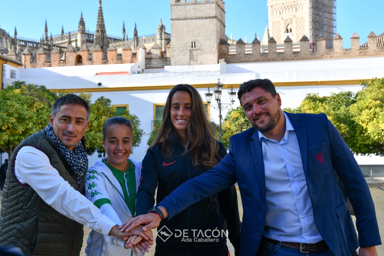 Rosa Márquez, Maite Albarrán, Antonio Contreras y Cristian Toro protagonizaron las presentación del derbi