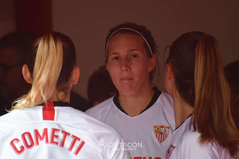 Jeni Morilla anotó el tanto que le dio al Sevilla FC la victoria ante el Sporting de Huelva en la J18 de Primera Iberdrola